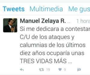 Manuel Zelaya respnde de esa forma