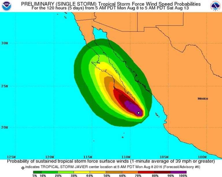 """México en alerta ante posible llegada de nueva tormenta  """"Javier"""""""