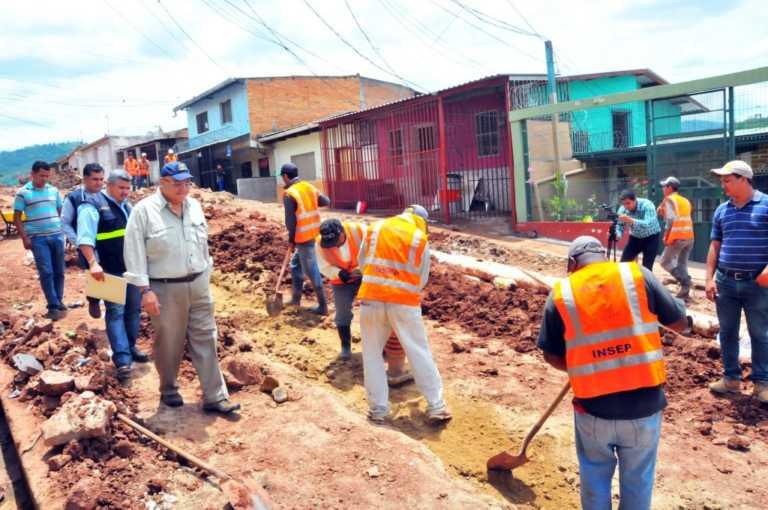 INSEP realiza inspección técnica a proyectos en el distrito central