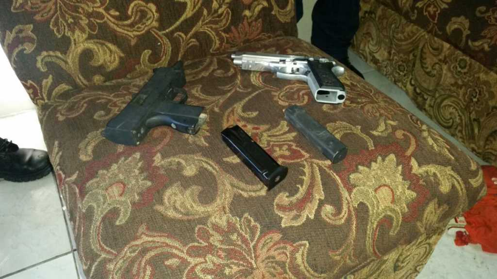 Armas decomisadas en La Ceiba.