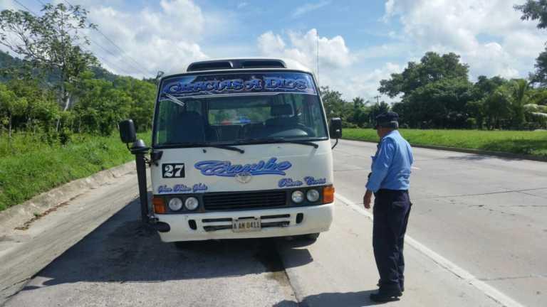 Motorista resulta herido tras atentado contra bus en Choloma