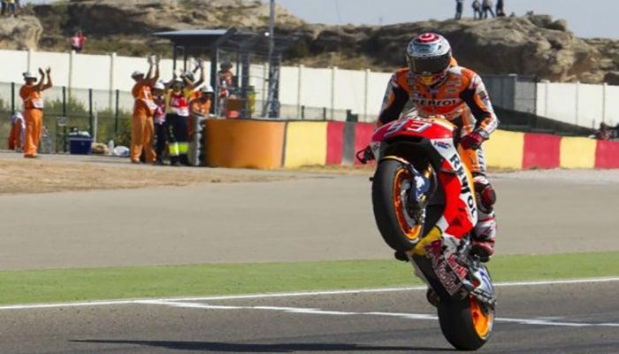El español Marc Márquez triunfa en Aragón en la Moto GP