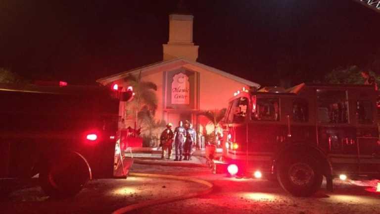Investigan incendio en la mezquita del autor de la matanza de Orlando