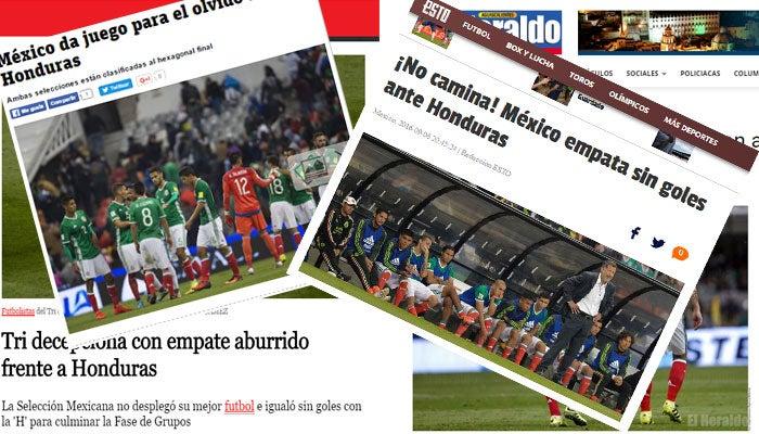Así reaccionan los medios de México tras empate ante Honduras en el Azteca