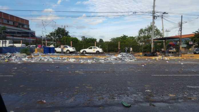 basura en Carnaval de Tegucigalpa