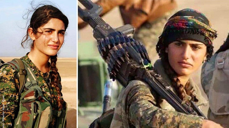"Muere peleando contra ""EI"" la  kurda parecida a Angelina Jolie"