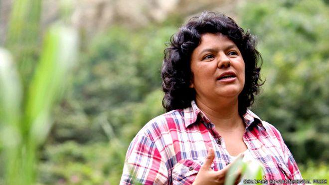 Berta Cáceres.