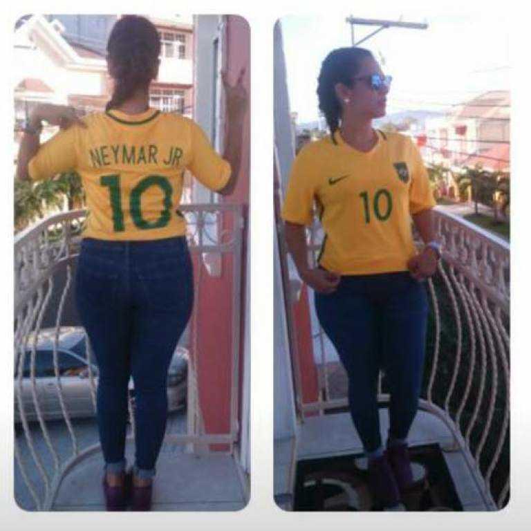 !Esposa de Johnny Palacios, presume la camisa de Neymar con polemico mensaje
