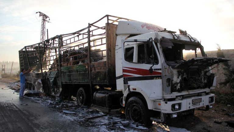 ONU anula apoyo humanitario a Siria por ataque a convoy de ayuda
