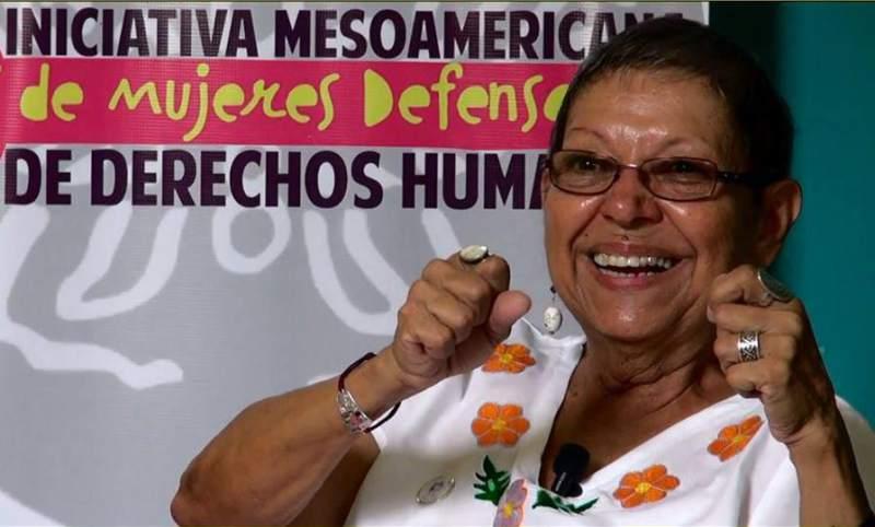 Gladys Lanza en la capital de Honduras.