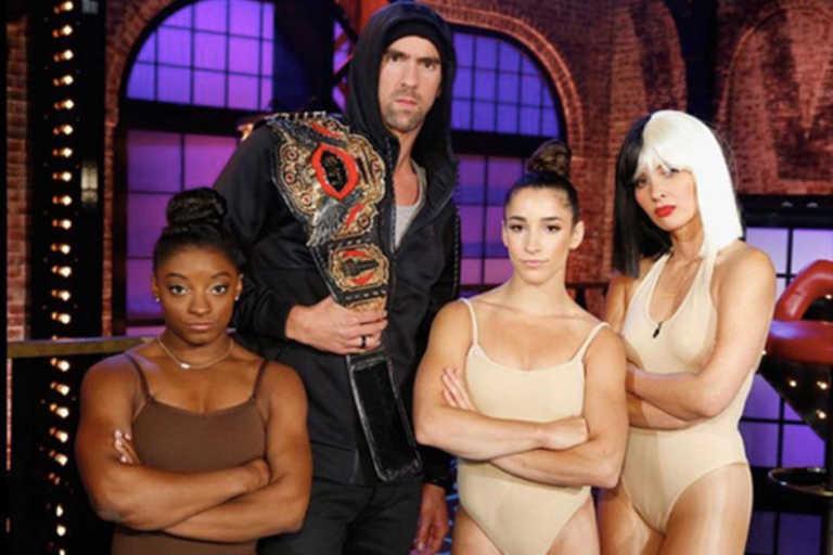 Michael Phelps y Simone Biles cambian el deporte por la música