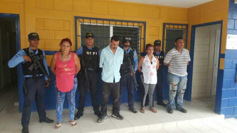 Caen supuestos distribuidores de droga en el norte de Honduras