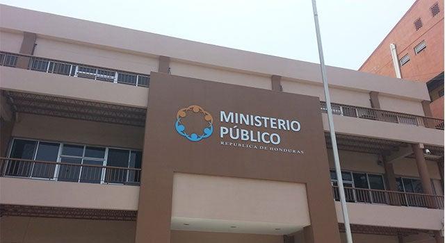 Ministerio Público en Tegucigalpa.