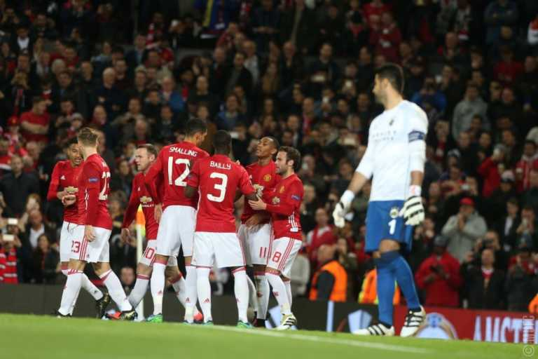 Manchester United goleó al Fenerbahce por la Europa League