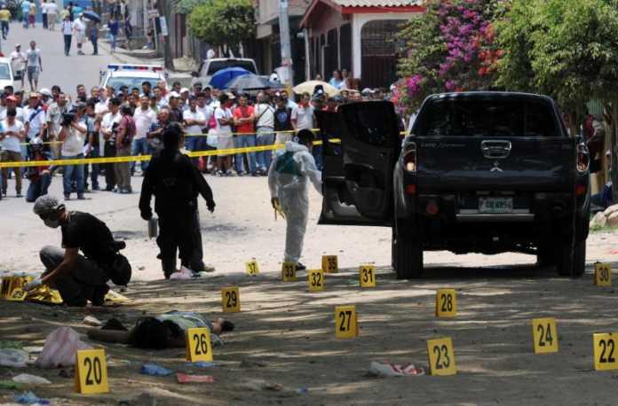 tasa de homicidios en Honduras