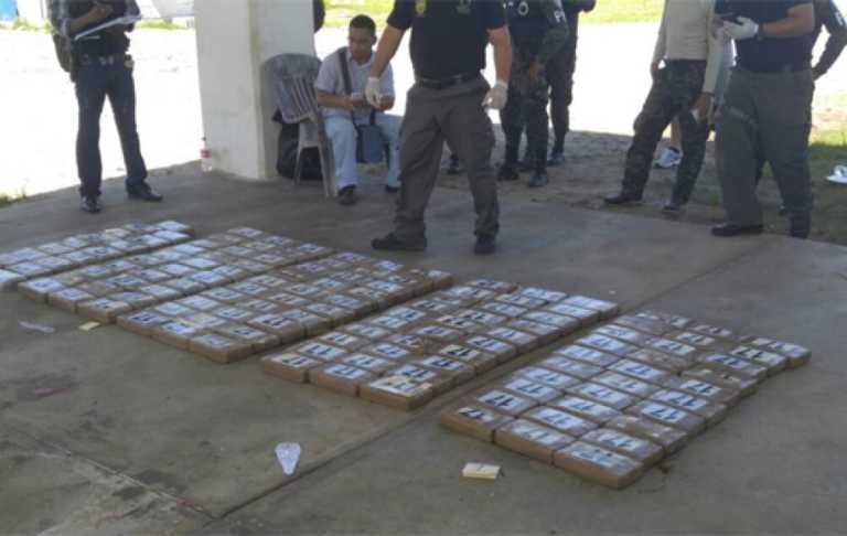 Caen dos colombianos con 137 kilos de cocaína en La Mosquitia