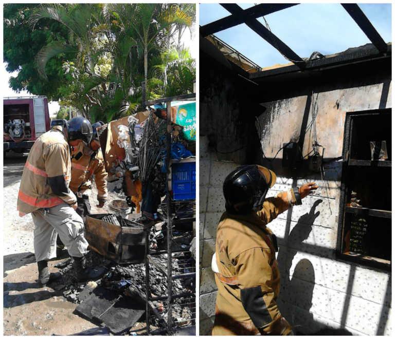 Trabajo de soldadura terminó quemando el cuarto de una casa en San Manuel