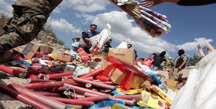Unos seis millones lempiras se han trasladado en pólvora al interior del país