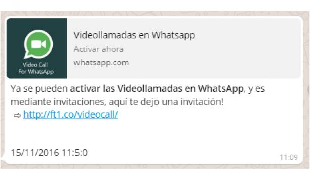 Estafas que aprovechan lanzamiento de videollamadas de WhatsApp