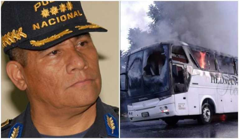 Jefe de la Policía Nacional habla sobre  la quema de los buses