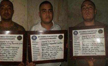 Algunos de los capturados que trataban de matar empresario.