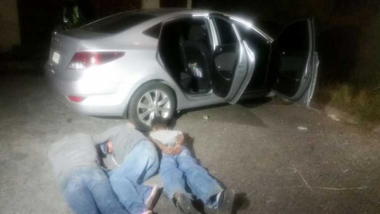 Persecución: Tras robar vehículo, detienen a tres sujetos en Tegucigalpa