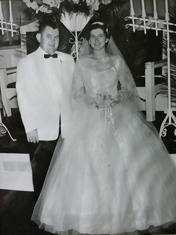 El día de la boda entre Don y Margaret