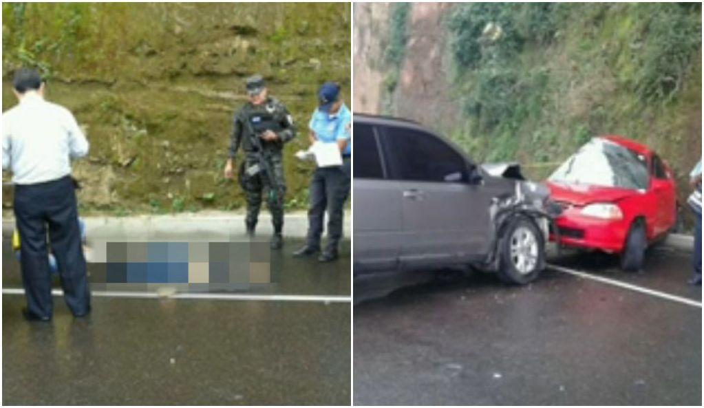 Accidente vial en Siguatepeque.