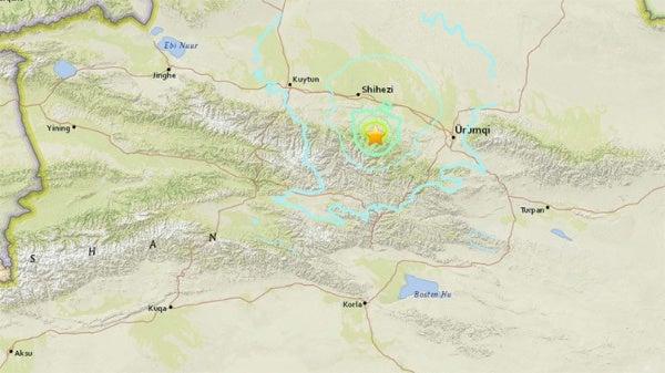 Fuerte sismo de 6.2 sacude el noroeste de China.