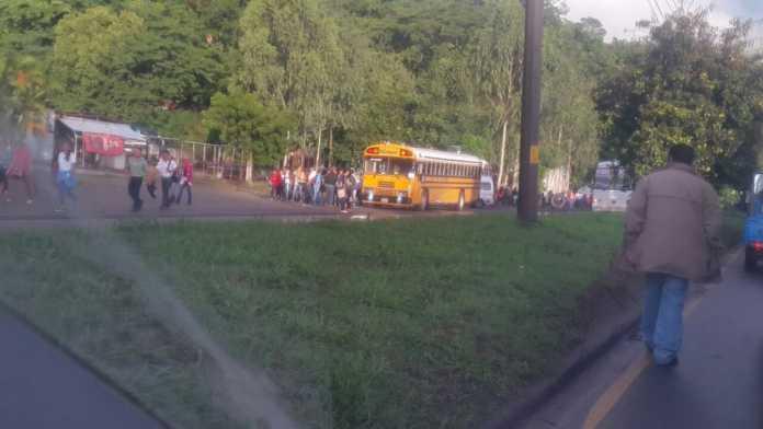 paro de transporte en Bulevar del Sur