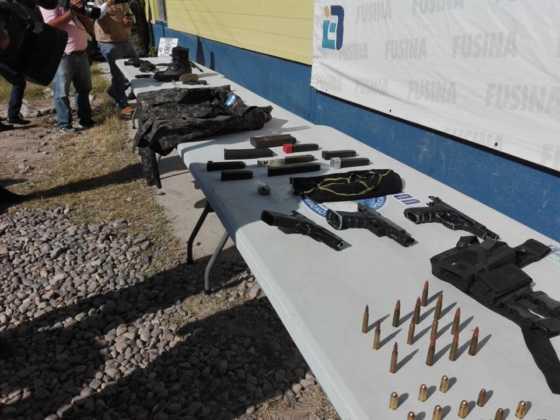Armas decomisadas durante el operativo