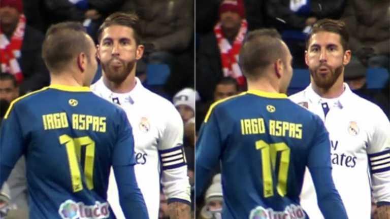 Prensa revela imágenes de supuesto escupitajo de Sergio Ramos