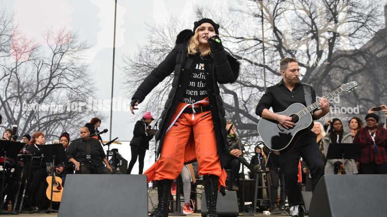 Madonna se unió a Marcha de las Mujeres contra Trump