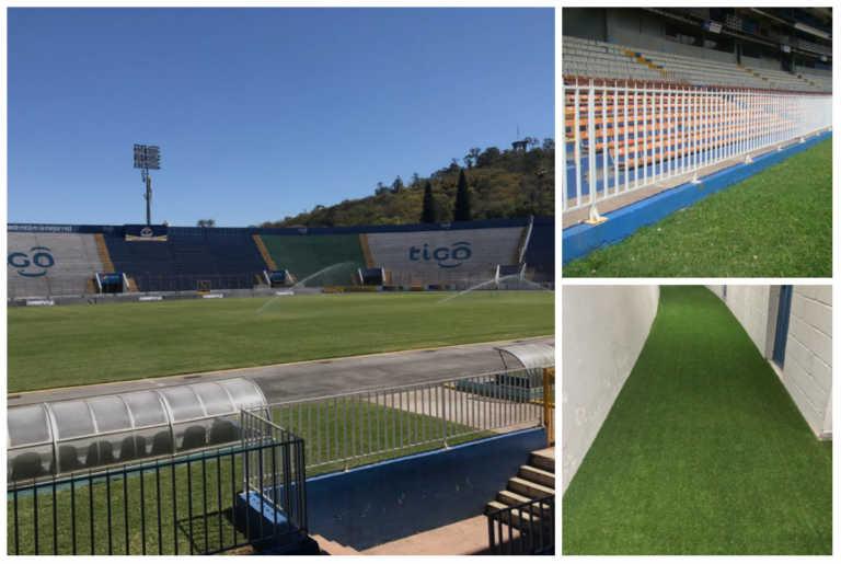¡Estadio Nacional es embellecido para posible juego eliminatorio!