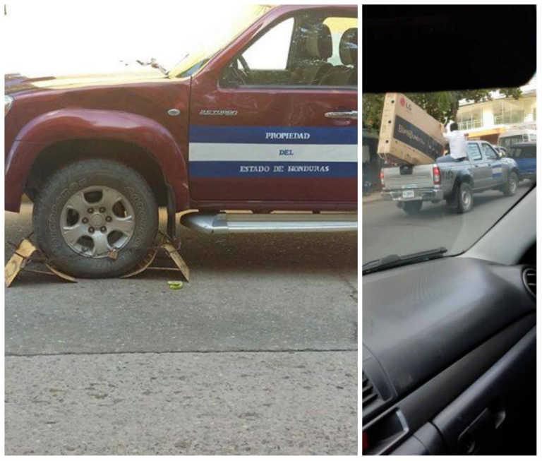 Vehículo del Estado es «enchachado» por Policía Municipal