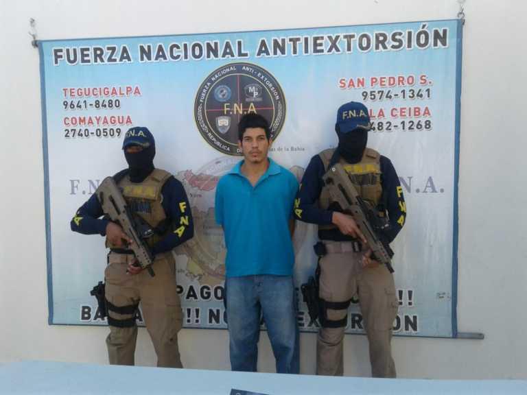 """Capturan al """"Neutron"""", supuesto extorsionador en Tegucigalpa"""