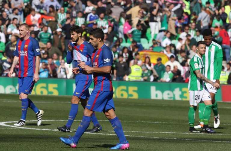 ¡Irreconocible! El Barcelona empató 1-1 ante el Betis