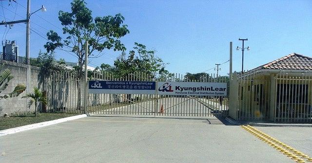 Las instalaciones de la Maquila Lear Kyungshin en San Pedro Sula.
