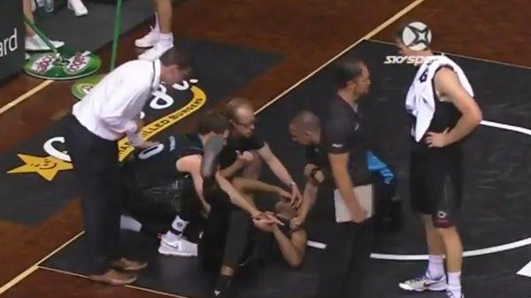 NBL: ¡Escalofriante! se le salió un ojo en pleno partido de básquet