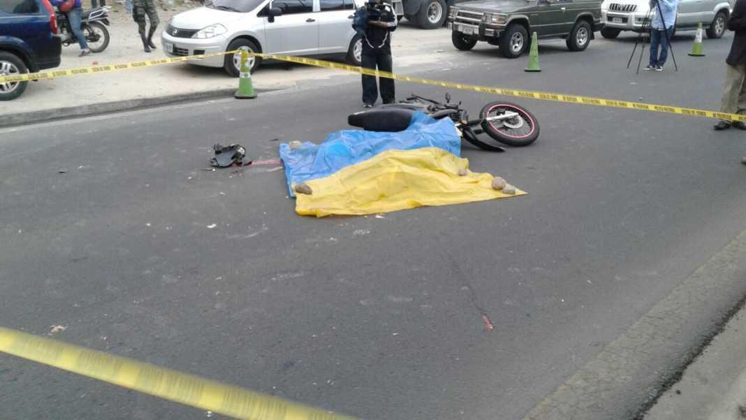 Motociclista muerto en Tegucigalpa