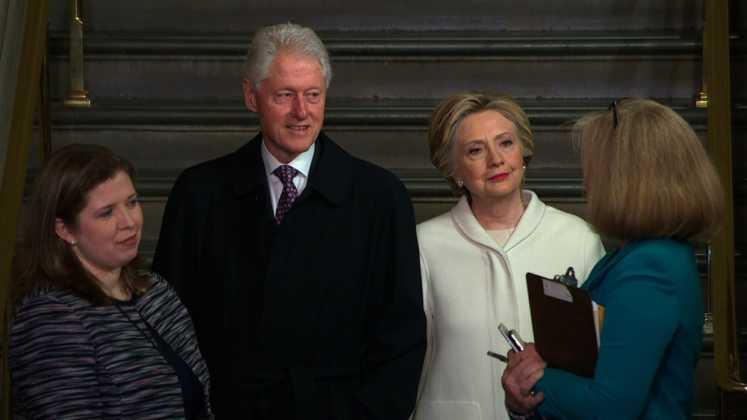 Estuvieron presentes Bill y Hillary Clinton.