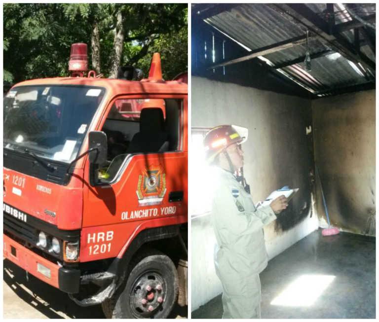 Informan sobre incendio de vivienda en Olanchito, Yoro