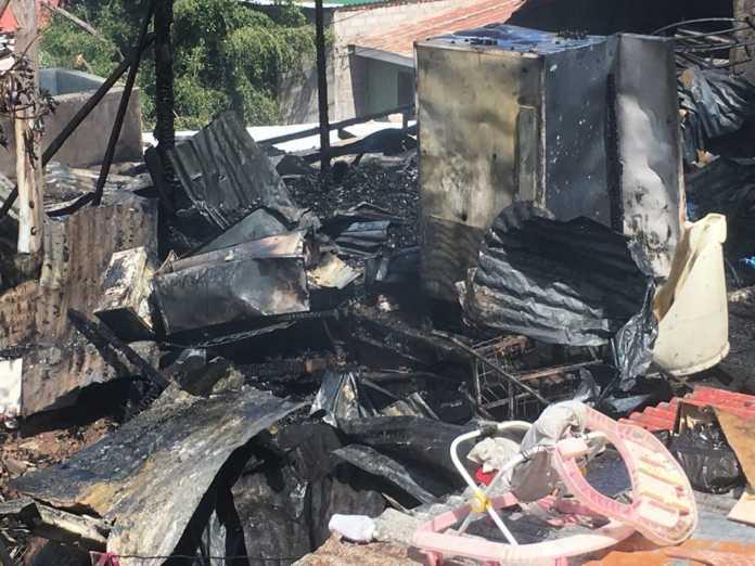 casas quemadas en Nueva Suyapa