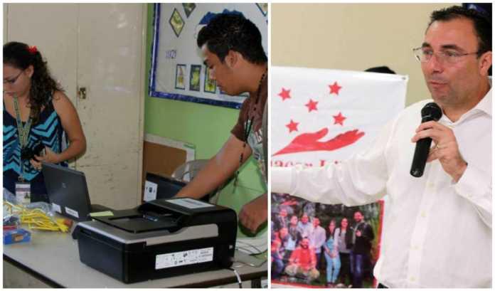 escáner en elecciones