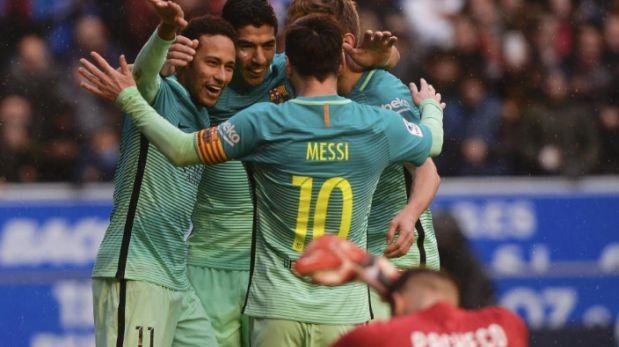Barcelona aplastó al Alavés con media docena de goles