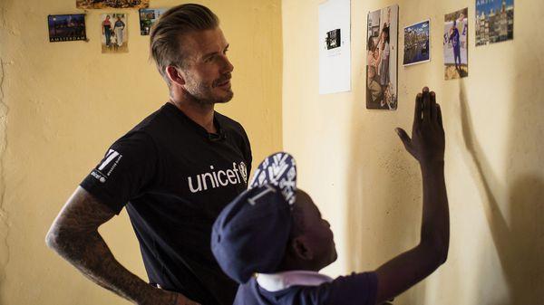 David Beckham colabora con Unicef desde el 2005