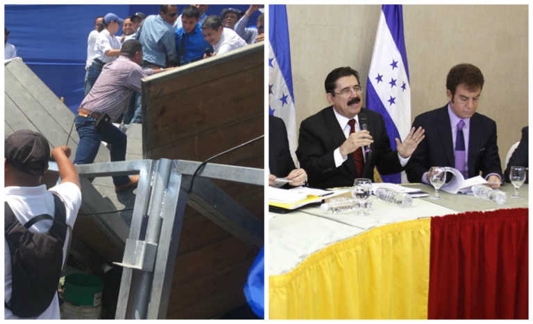 Oposición aprovecha caída de escenario para lanzar dardos a nacionalistas