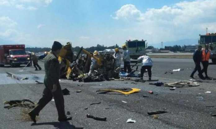 helicóptero accidentado en Guatemala