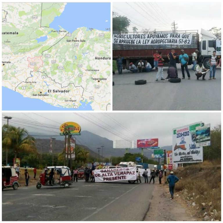 Carretera de Honduras a Guatemala bloqueada por protestas