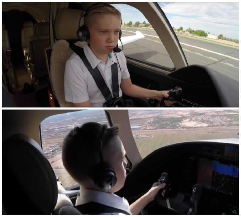 Piloto profesional de 12 años sorprende al mundo entero